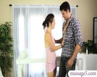 Lovely Masseuse Milked A Cock And Fucked On A Massage Table - scene 1
