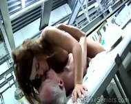Beautiful Red Haired Teen Mounts Her Boss To Keep Her Job - scene 9