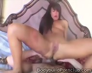 Brunette Works Out Her Sweet Pussy With Some Sneaky Toys - scene 9