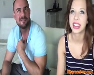 Bigmouthed Brunette Enjoys Facial Session - scene 5