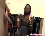 Ebony Blowjob Amateur Gets Facial At Party - scene 5