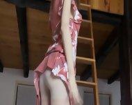 Skinny Sweetie Opening Her Hairy Cunt - scene 3