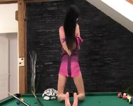 Hot Cunt Masturbation On The Billiards - scene 3