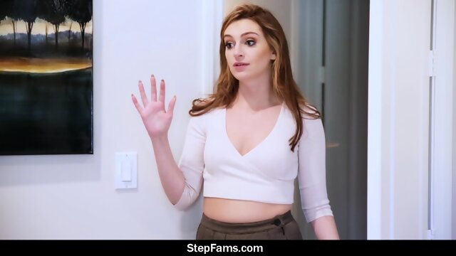 Redhead Fulfills Her Blindfold Fuck Fantasy and Has Threesome