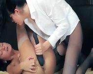 Luxury Models In Pants Enjoying Strap - scene 12