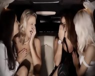 Extreme Group Intercourse In Limo - scene 1