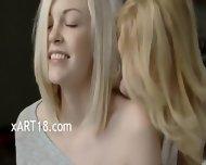 Swedish Blond Lesbians Make True Love - scene 1