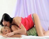 Duo Sexy Lezzies In Bedroom - scene 3