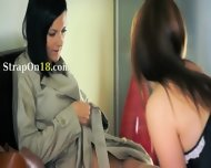 Two Neat Amazing Lesbians Using Strap - scene 1