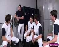 Amazing Gay Orgy With Five Cock Craving Gays In Locker Room - scene 1
