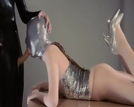 Adorable Strapon Lesbians In Mask Playing - scene 4