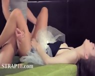 Young Lesbians Enjoying Penetrate With Dildo - scene 9