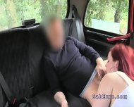 Redhead Upskirt Flashing In Fake Taxi - scene 8