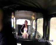 Redhead Upskirt Flashing In Fake Taxi - scene 4