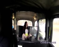 Redhead Upskirt Flashing In Fake Taxi - scene 6