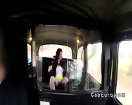 Redhead Upskirt Flashing In Fake Taxi - scene 7