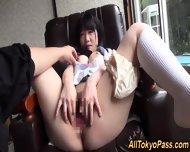 Japanese Teen Gets Jizzed - scene 8