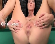 Elegant Cunt Masturbation On The Billiards - scene 6