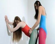Hairy Lesbians In Nylon Pants Bang - scene 11