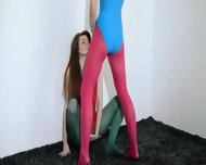 Hairy Lesbians In Nylon Pants Bang - scene 12