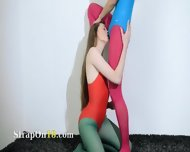 Hairy Lesbians In Nylon Pants Bang - scene 4