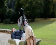 Extremely Hot Brunette Lesbian Glamours - scene 2