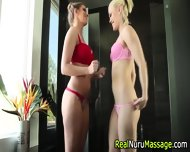 Nuru Lesbo Fetish Massage - scene 4