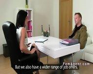 Czech Amateur Dude On Casting Fucks Female Agent - scene 2