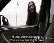 Russian Amateur Fucking In The Car In Public Pov - scene 1