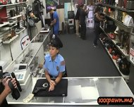 Lady Police Officer Gets Nailed In A Pawnshop To Earn Cash - scene 3
