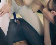Amazing Sweet Lesbians In Pantyhose - scene 8