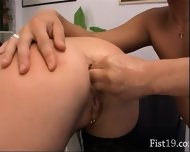 Tight Bum Fisting On The Table - scene 10