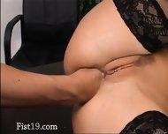 Tight Bum Fisting On The Table - scene 12