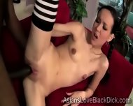Petite Asian Beauty Gets Destroyed By A Hefty Brotha - scene 6