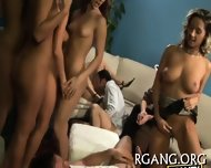 Guys Stare At Lesbo Fun - scene 1