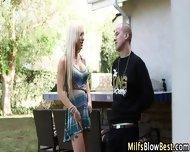 Big Tit Blonde Milf Blows - scene 2