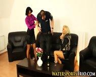 Classy Trio Piss Drenched - scene 4
