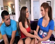 Big Juggs Stepmom Shares Her Yummy Pussy With Teen Couple - scene 3