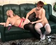 These Lesbian Grannies Love To Test Their Toys On Each Other - scene 9