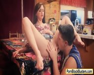 Lusty Brunette Chick Hope Howell Banged On The Table - scene 5