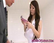 Oily Hitomi Tanaka Takes Bathroom Pounding - scene 1