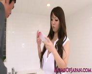 Oily Hitomi Tanaka Takes Bathroom Pounding - scene 3