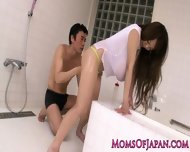 Oily Hitomi Tanaka Takes Bathroom Pounding - scene 6