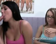 Teen College Girls Blow Popular Jock - scene 2