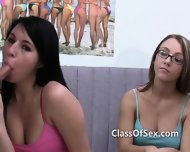 Teen College Girls Blow Popular Jock - scene 3