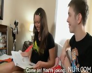 Excited Teen Girl Kisses - scene 3