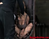 Pathetic Sub Chained Back In Her Cage - scene 9