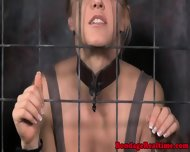 Pathetic Sub Chained Back In Her Cage - scene 11