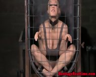 Pathetic Sub Chained Back In Her Cage - scene 12