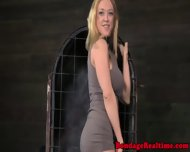 Pathetic Sub Chained Back In Her Cage - scene 2